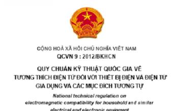 QCVN 9 : 2012/BKHCN  VỀ TƯƠNG THÍCH ĐIỆN TỪ