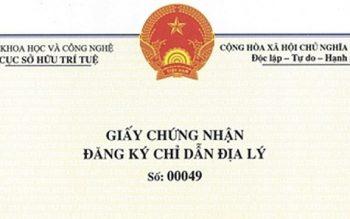 Thủ tục đăng ký chỉ dẫn địa lý